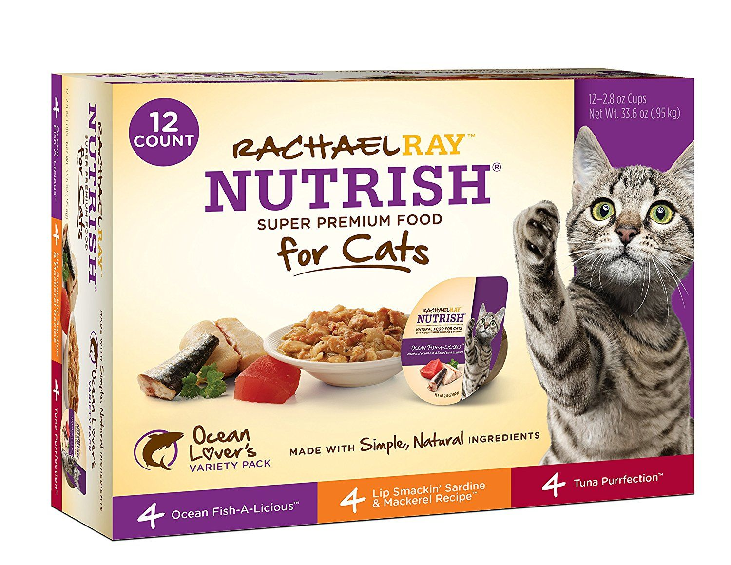 Rachael Ray Nutrish Natural Wet Cat Food, 2.8 oz tubs