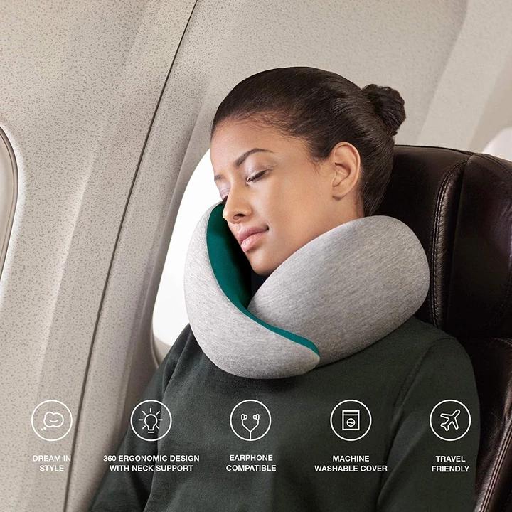 Luxuvee Travel Pillow, Memory Foam Neck