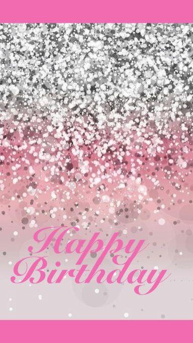 Hedendaags Sparkly Happy Birthday card (met afbeeldingen) | Roze behang VP-03