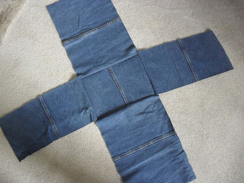"""Here's my latest sewing project...I call it my """"Denim Project Bag"""". I needed something to hold my knitting projects so I created this bag....."""