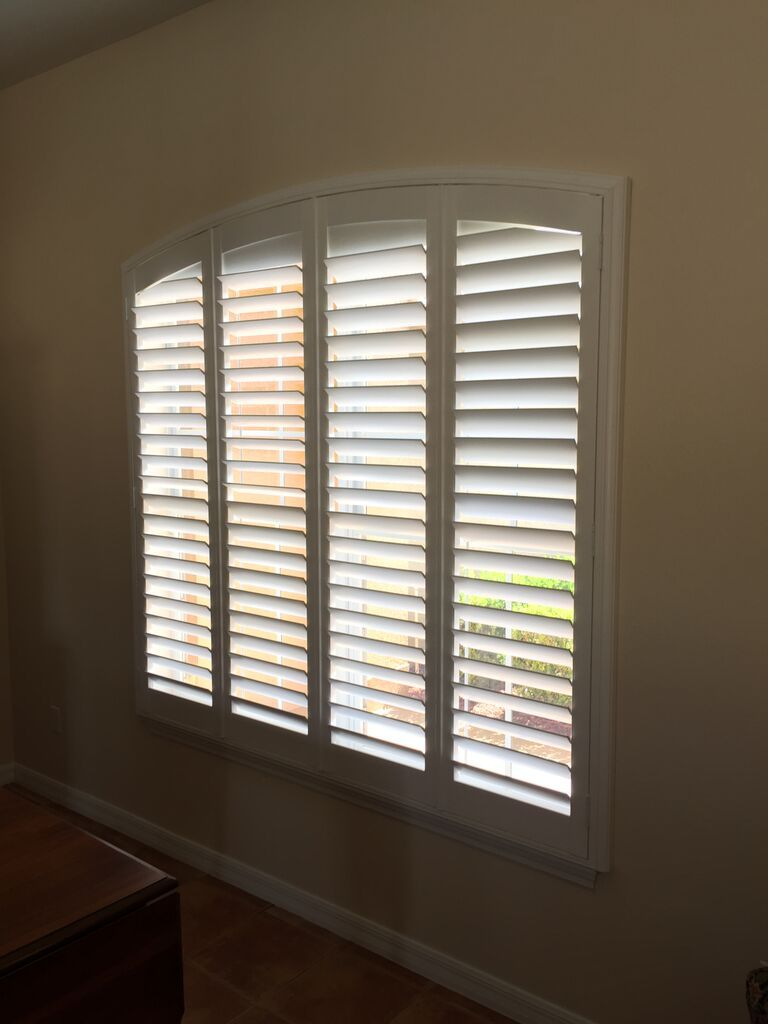 Arch Plantation Shutters Available From Budget Blinds Eyebrow Arch