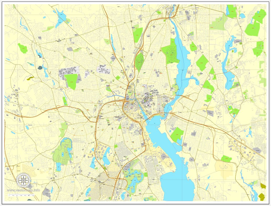 Printable Map Providence Rhode Island Us Exact And Detailed Us Street Maps  Download