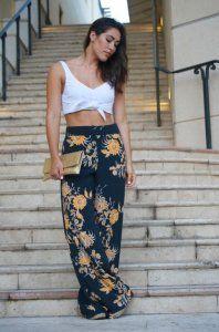 Zara Woman Szerokie Luzne Wzorzyste Spodnie S Blog 6207533607 Oficjalne Archiwum Allegro Zara Women Women Clothes