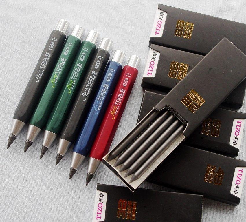 10cm Mechanical Sketching Pencil Art Drawing Pen 6pc A Set 2B,3B,4B,5B,6B,8B