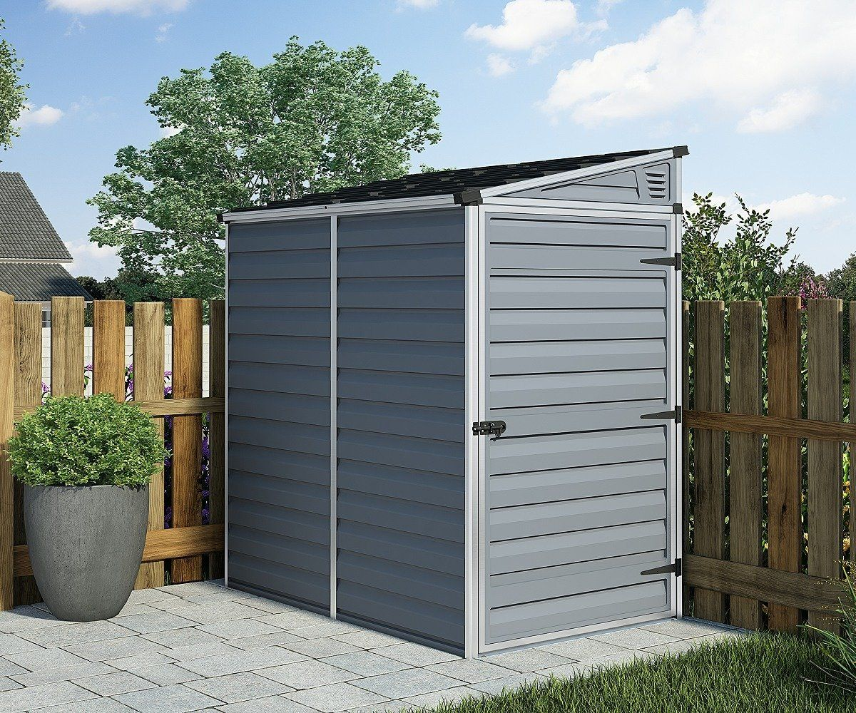 Palram Skylight Anthracite Polycarbonate Pent Shed Small