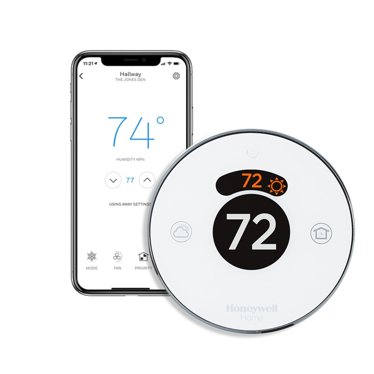 Imagine a thermostat that adapts to you. The Round® Smart