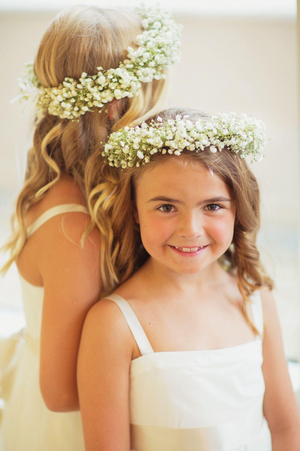 Baby toddler girl/'s gypsophila baby/'s breath Flower Crown wedding flower girl