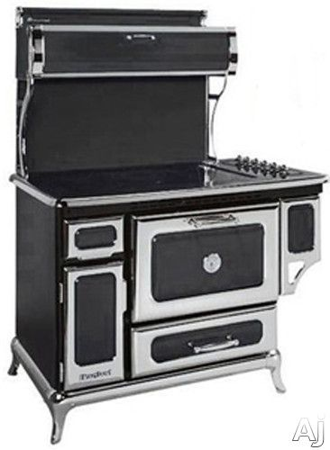 """Heartland 6210CD0BLK 48"""" Freestanding Electric Range with 6 Radiant Elements, 4.0 cu. ft. Electronic Convection Oven, Self-Cleaning, Temperature Sensors and 350 CFM Exhaust System: Black"""