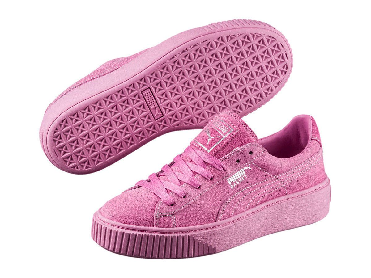 Puma Suede Heart Canvas Wn Rosa Sneakers Dam Online