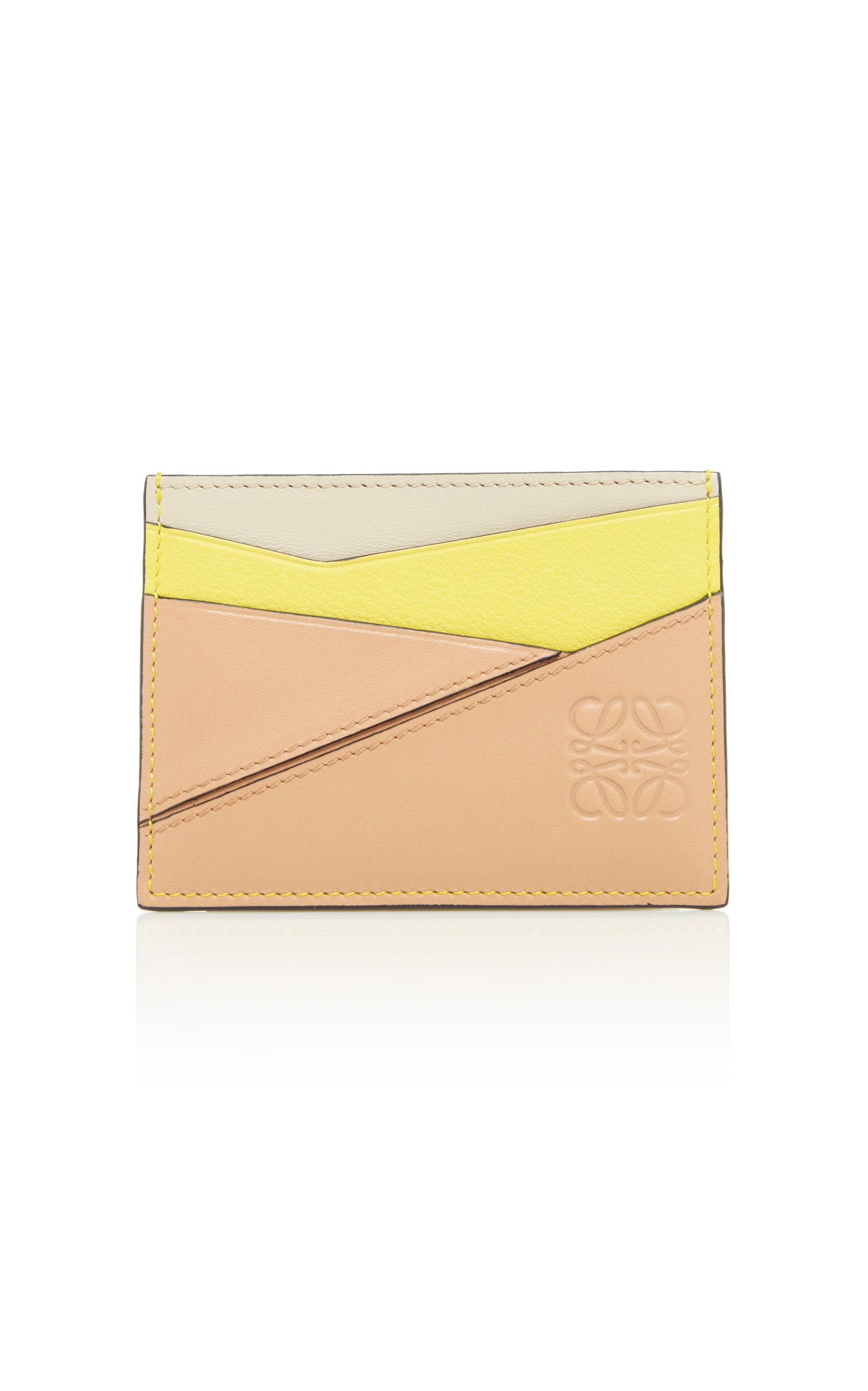 110961acf887 LOEWE   Puzzle Leather Card Holder - Yellow   CAD 340   Loewe's leather  'Puzzle