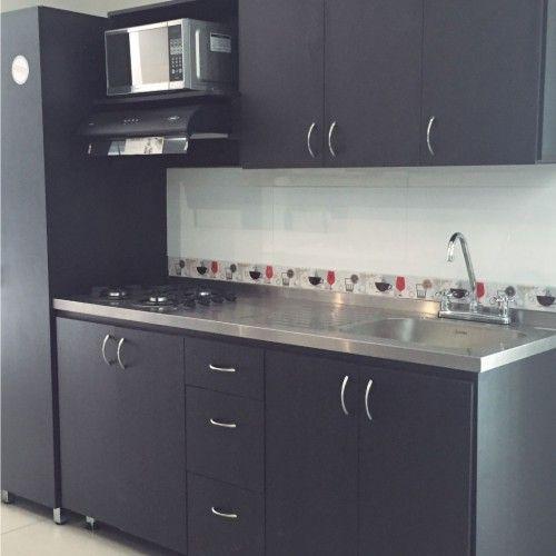 cocina integral color wengue moderna - Buscar con Google ... 29f0aa01ee2a