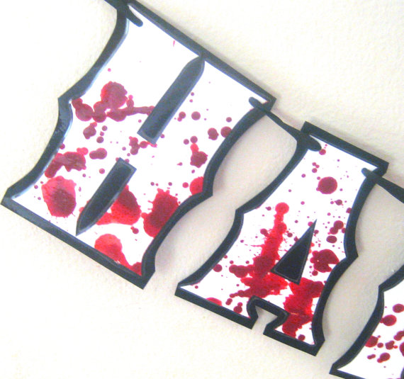 Zombie Party Decor, Zombie Birthday Banner, The Walking