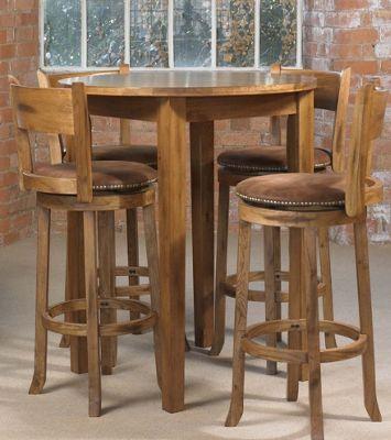 Debenhams Distressed Oak Bologna Round Tall Table At Debenhams