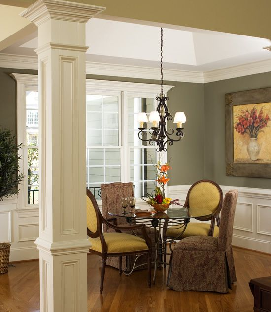 Dining Room Of The Lilycrest   House Plan Number 1022 Like Wall Color With  White Trim