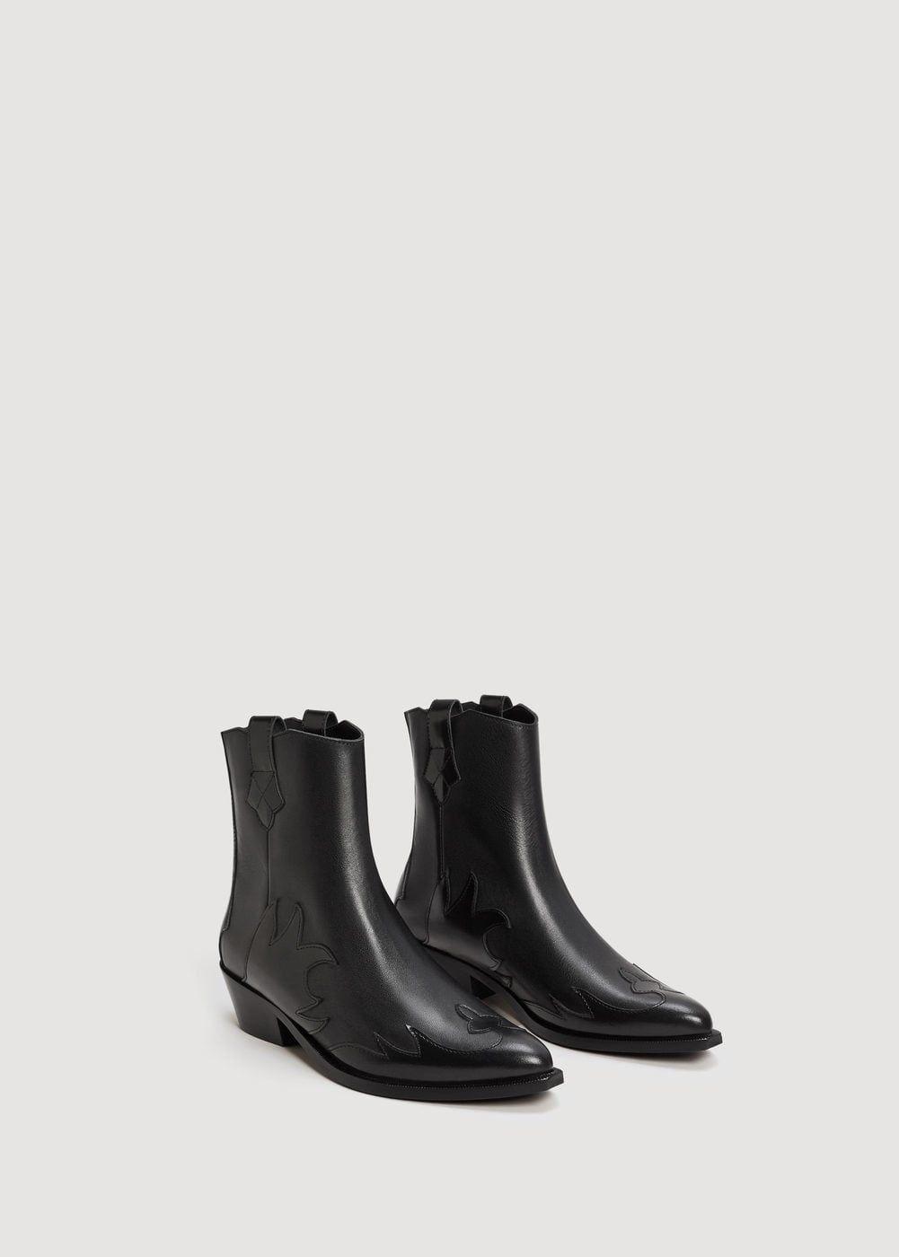 4c36aca610 Botín piel cowboy - Zapatos de Mujer