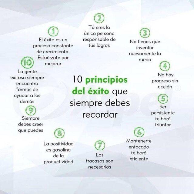 10 principios de éxito que siempre debes recordar