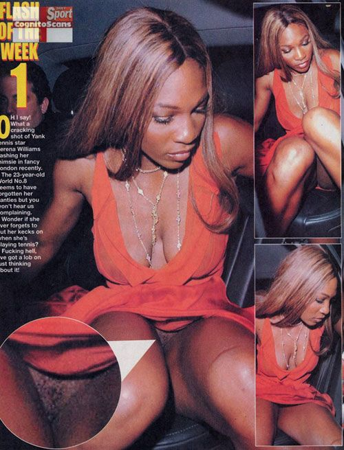Upskirt shot of serena williams