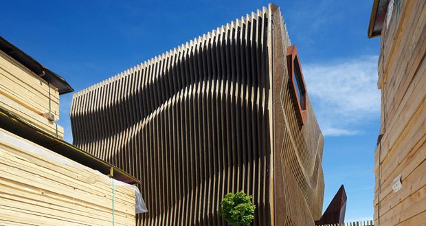 Wooden Cladding Wavy ~ Storey building timber structure buscar con google