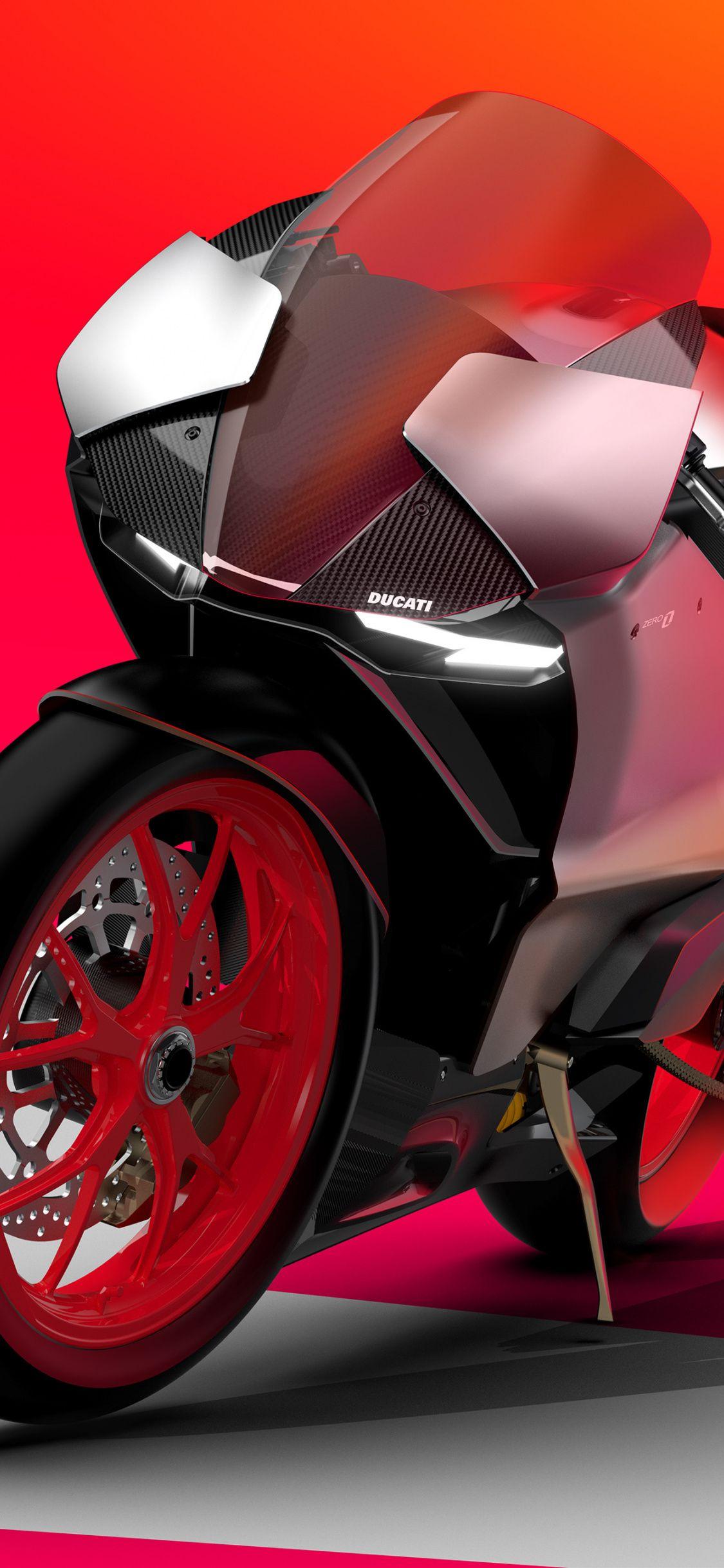 Ducati Zero Electric Superbike 2020 Sports Bike Art 1125x2436