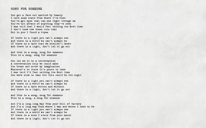 U2 Song For Someone I Thought Of You When I Heard This Song Music Quotes U2 Songs U2 Lyrics
