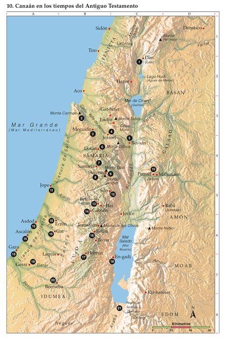 Mapa Bíblico 10 Bible Mapping Ancient Israel Map