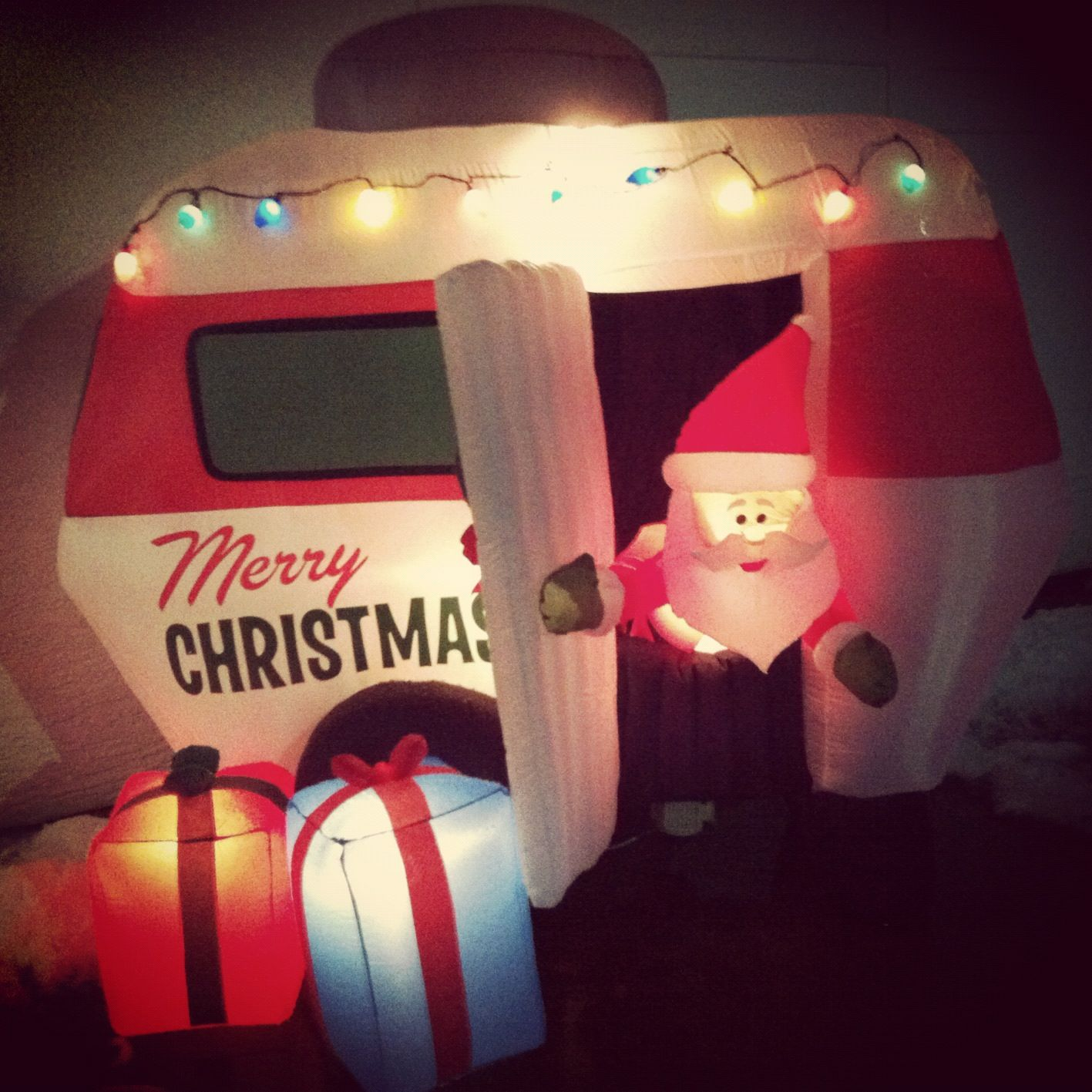 Santa visited us this Christmas! He came with his RV and stayed a while, we must have been extra good!