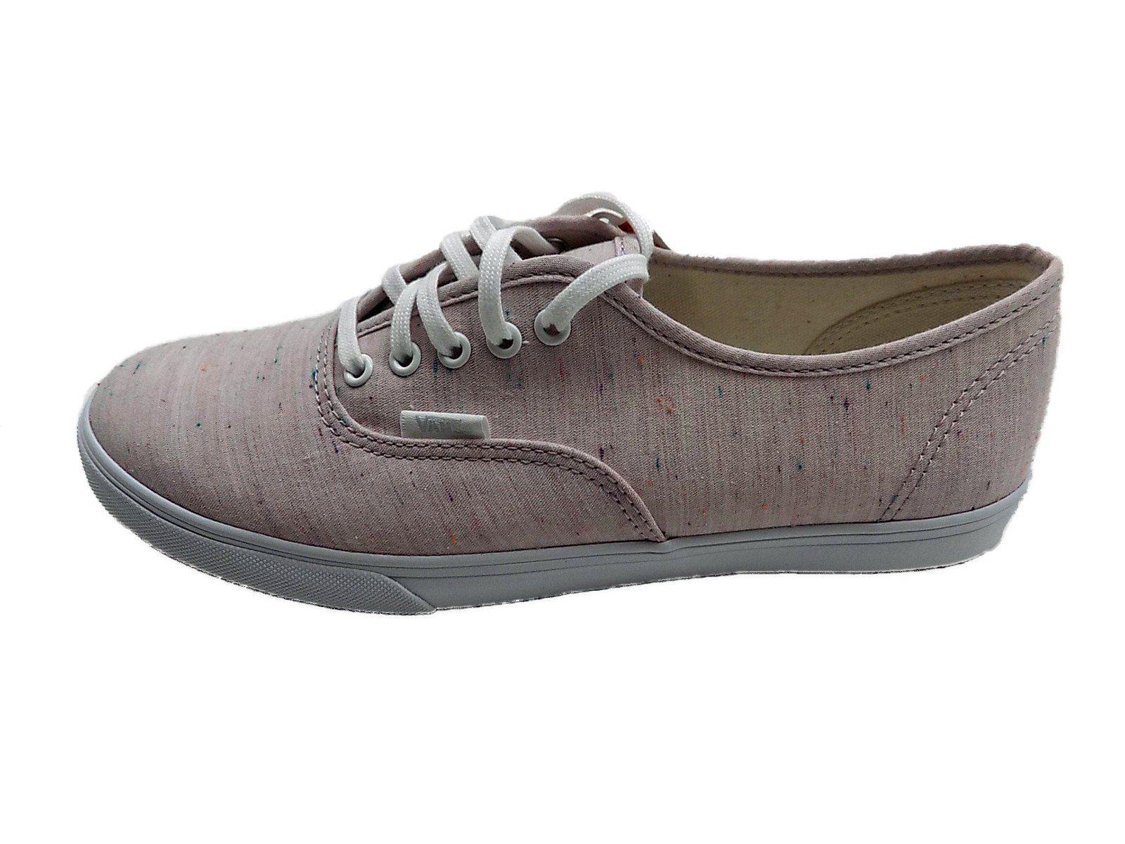 Vans Classic Authentic Lo Pro Sneakers (7.0 D(M) US Mens/ 8.5 B(M) US Womens, (Speckle Jersey) Pink/ True White)