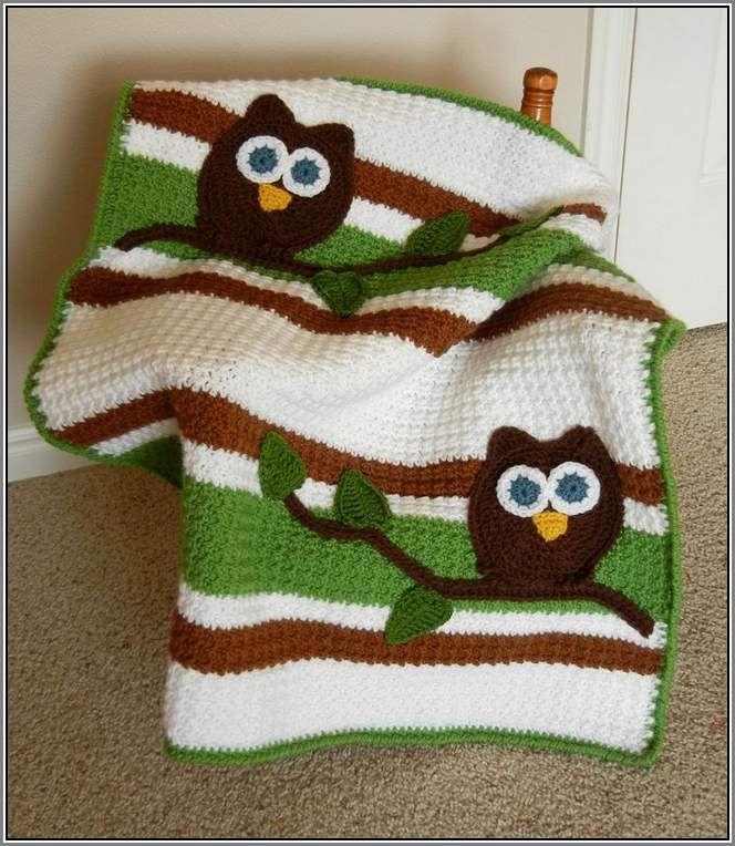 Owl Baby Blanket Crochet Pattern Free Crocheted Crochet Crochet