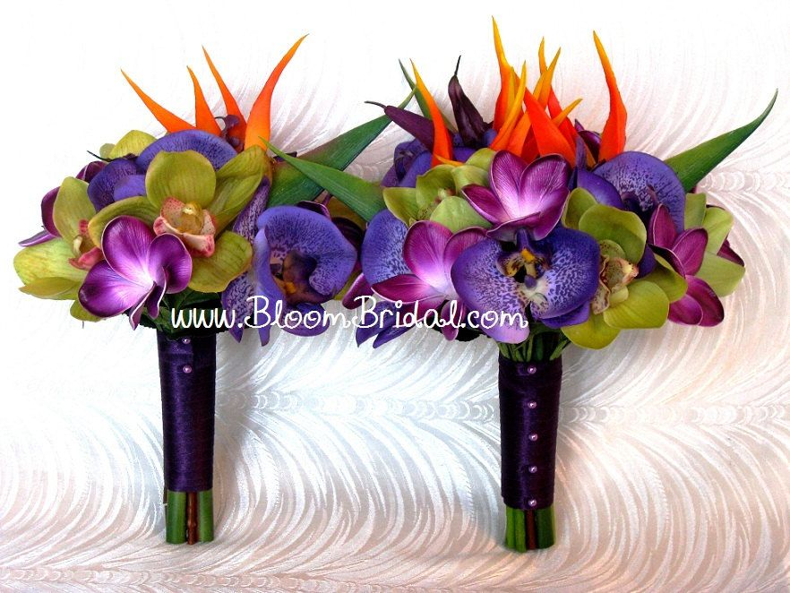 Real touch tropical bouquet in real touch Orchids, Plumerias, and ...
