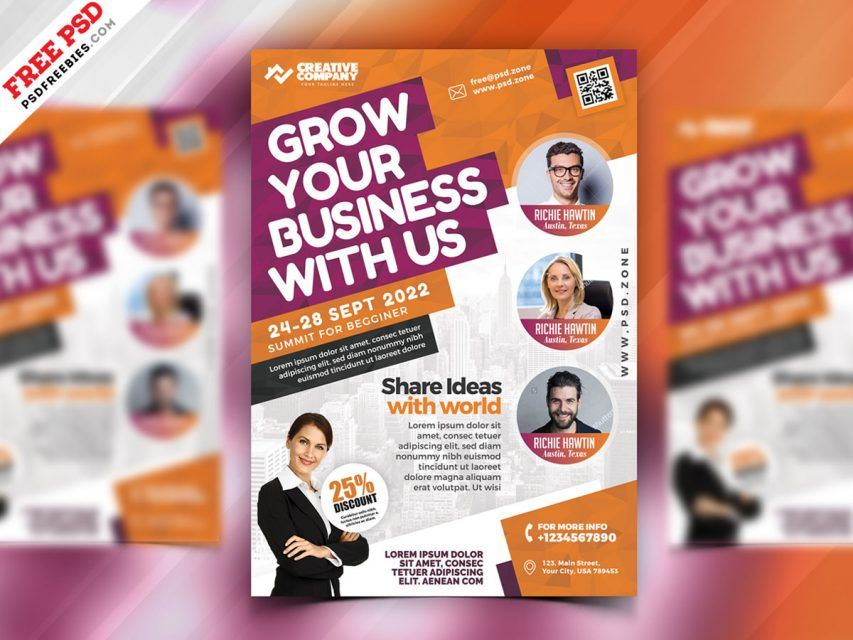 Business Seminars Workshops Flyer PSD is part of Free psd flyer templates, Free psd flyer, Psd flyer templates, Business card psd, Flyer design, Business cards creative templates - Download Free Business Seminars Workshops Flyer PSD  This Business Seminars Workshops Flyer PSD is a great design for promoting your corporate event, seminars, agency event or any business events