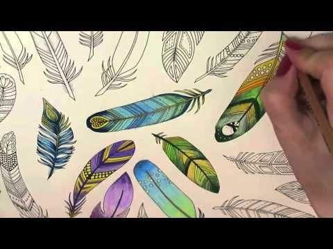 Enchanted Forest Coloring Book Feathers Youtube Enchanted Forest Coloring Book Enchanted Forest Coloring Johanna Basford Enchanted Forest