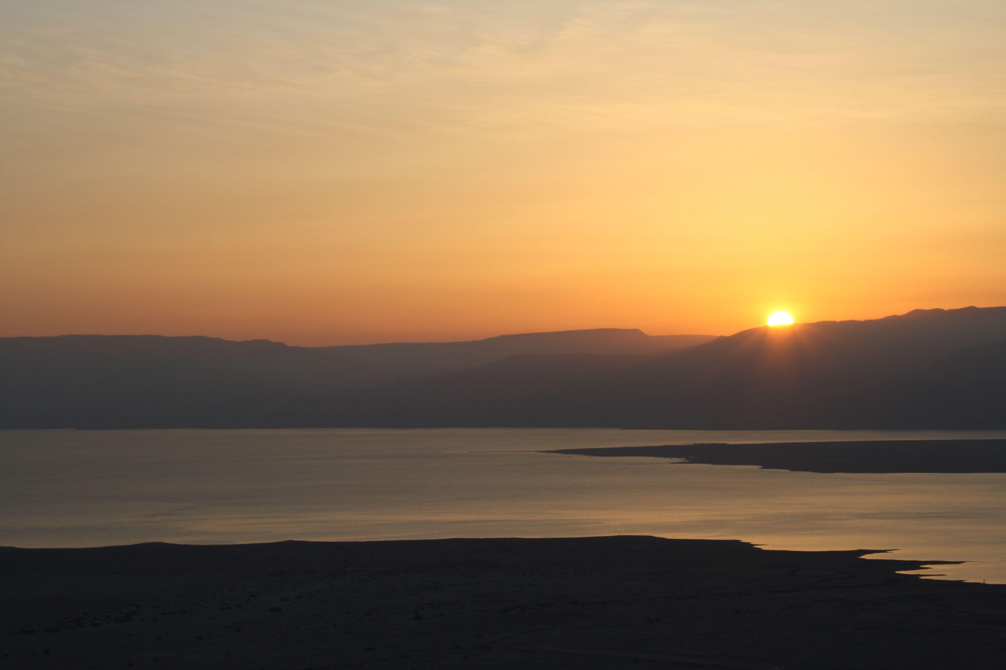 Sunrise at Masada/The Dead Sea, Israel