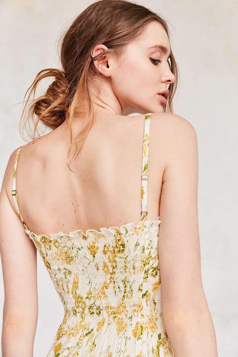b1f6943712ce Kimchi Blue Gauzy Smocked Midi Dress | MY UO PRINTS | Dresses, Urban ...