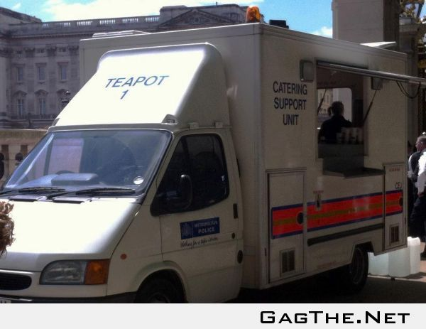 British Police have a tea support unit