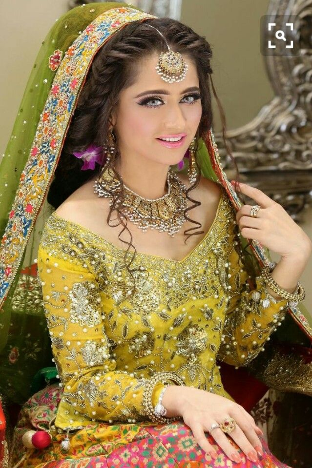 Pin by Sarvat Amaz on Mayoun..mehndi dress Pakistan