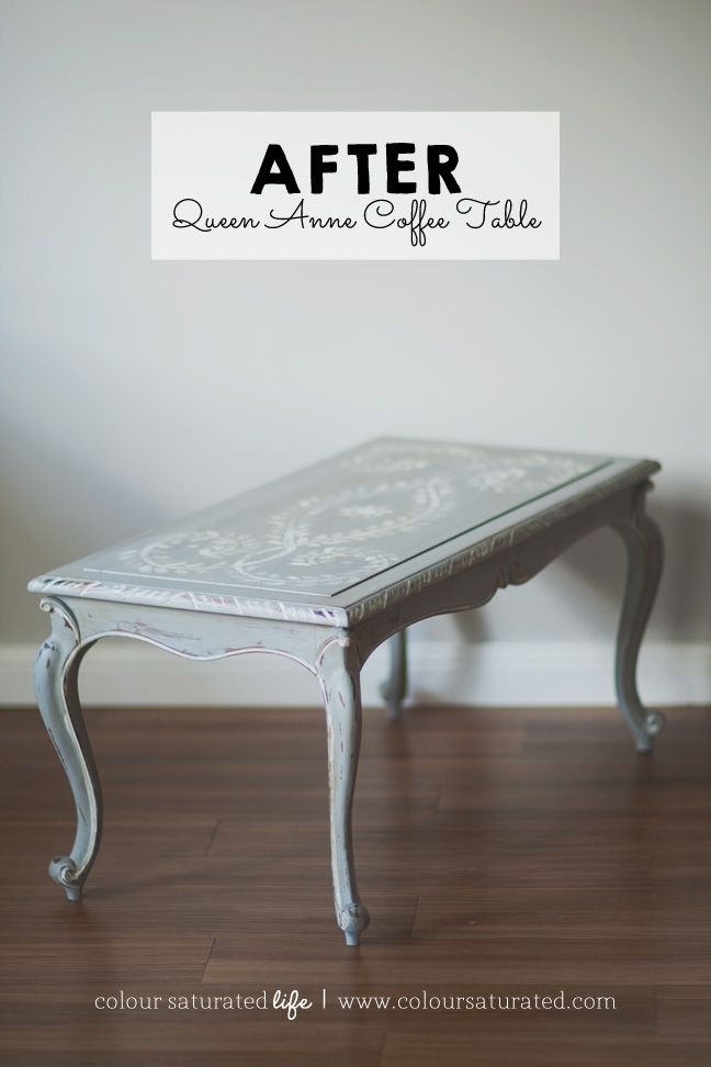 Queen Anne Coffee Table Makeover Colour Saturated Life Www