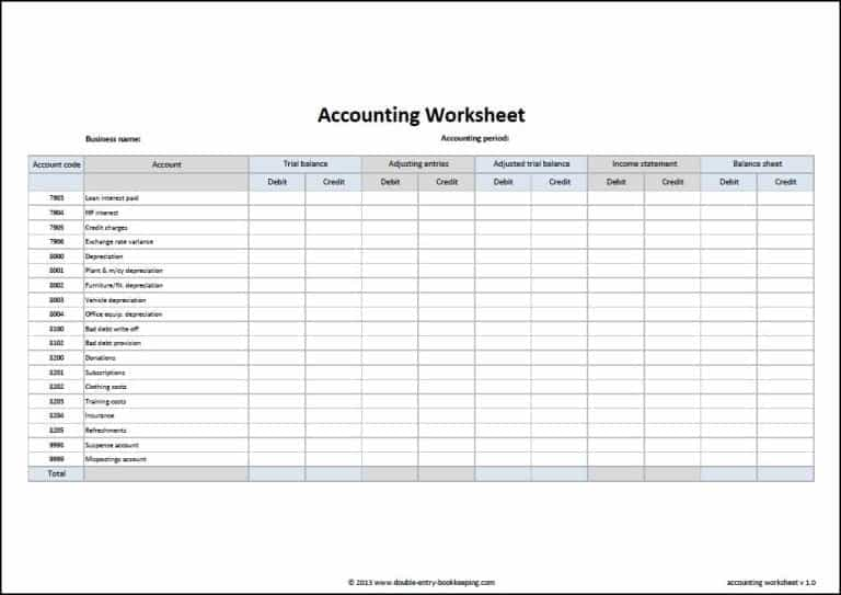 Simple Accounting Spreadsheet Templates For Small Business