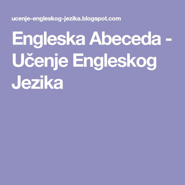 Engleska Abeceda Učenje Engleskog Jezika Book Books