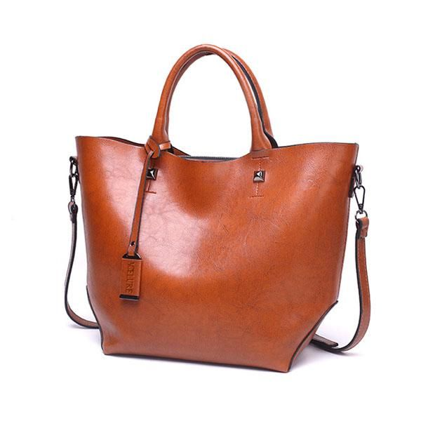ACELURE Women Bucket Bag Oil Wax Women Leather Handbags Big Tote Famous  Brands High Capacity Female 033d381001feb