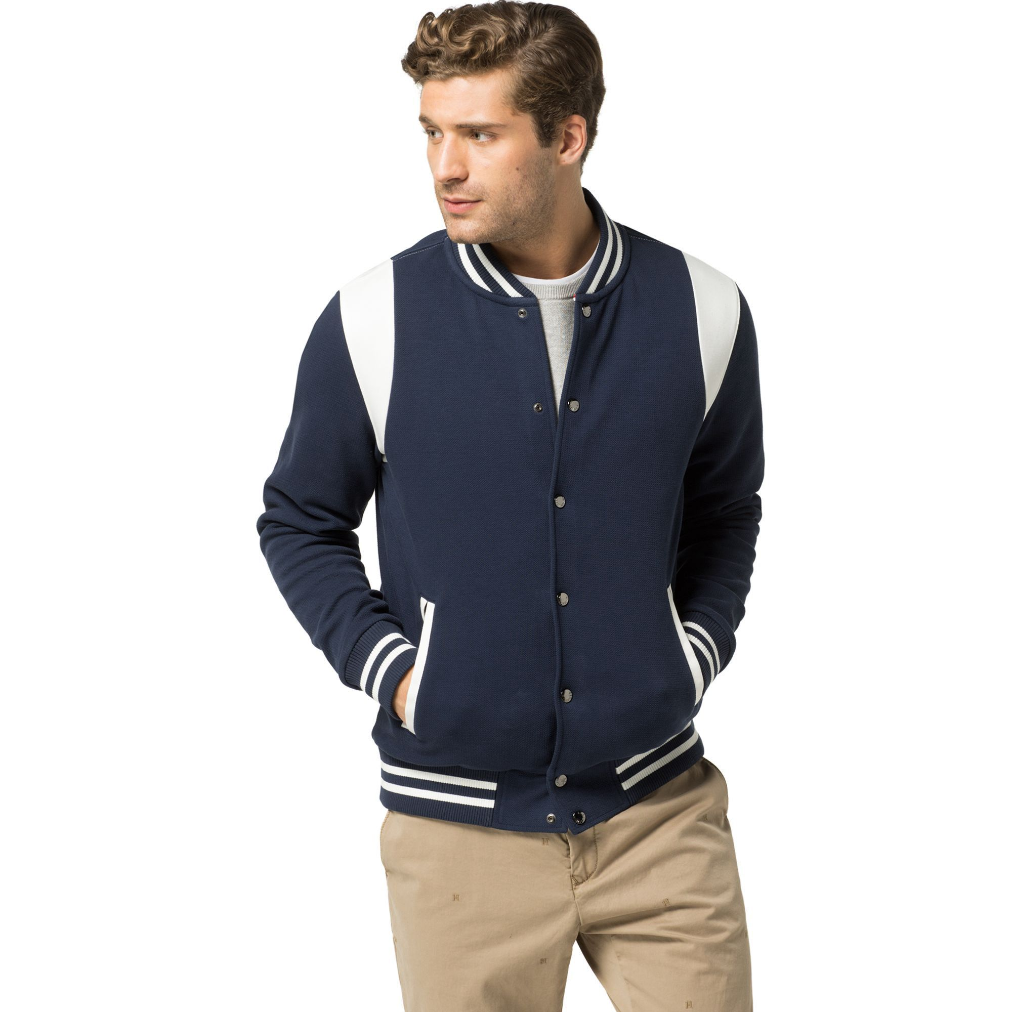 c02b05aed70 Shop the blue cotton blend crew neck sweatshirt from the latest Tommy  Hilfiger sweatshirts collection for men. Free returns   delivery over  8719253405723