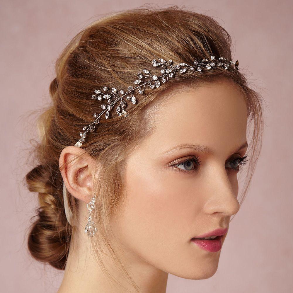 silver gold rhinestone bridal headband wedding hair accessories