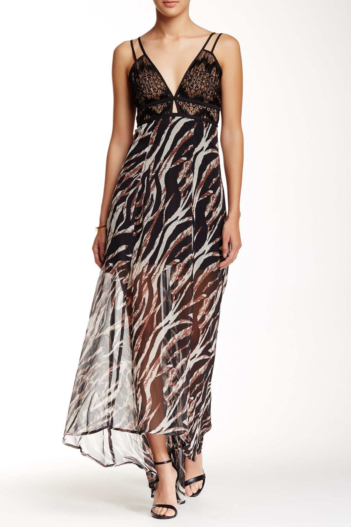 Printed Hi-Lo Maxi Dress by Jealous Tomato on @nordstrom_rack