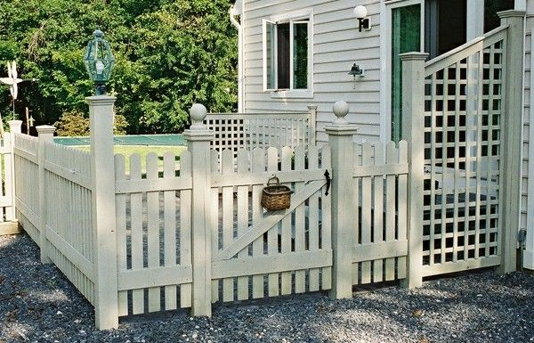 Lovely Tips For A Backyard Fence Manufactured Of Wood In ...