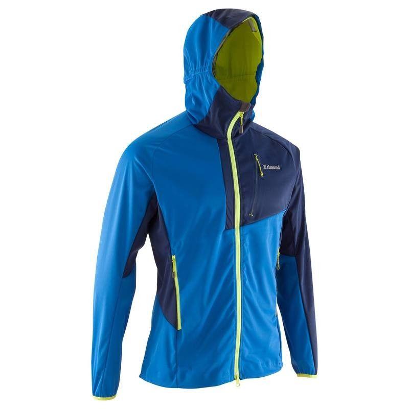 Veste Softshell D Alpinisme Homme Alpinism Light Bleu Veste Softshell Veste Vetements Homme