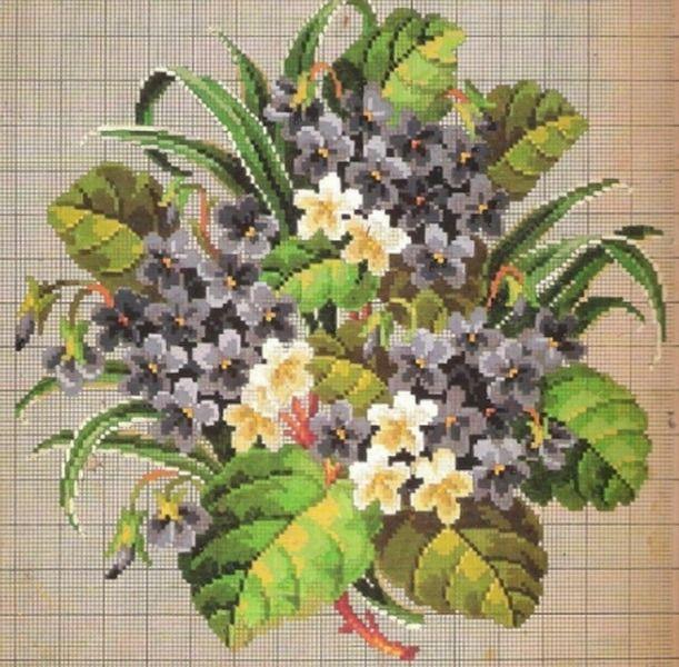Вышивка крестом луговые цветы схемы бесплатно