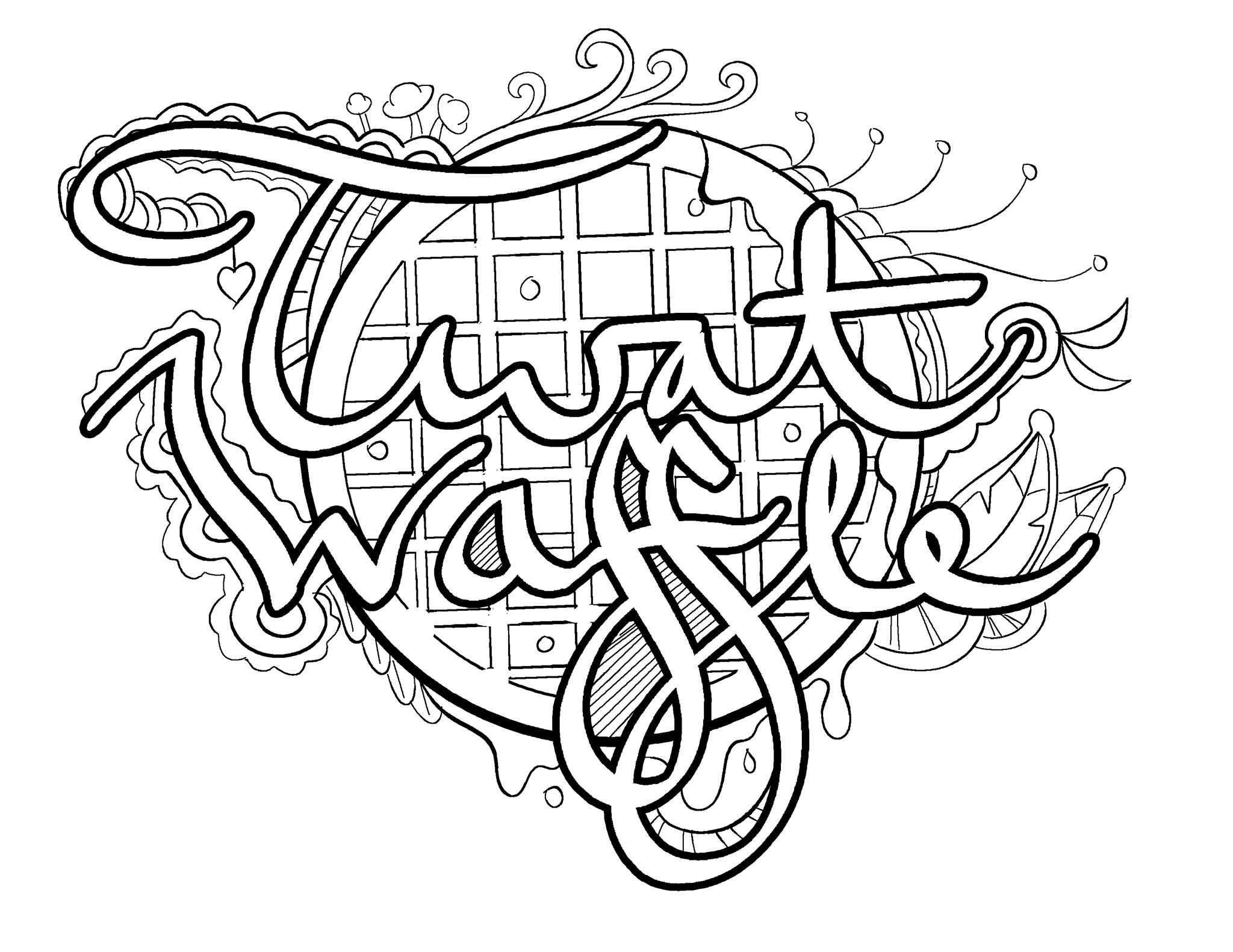 Waffle Coloring Page