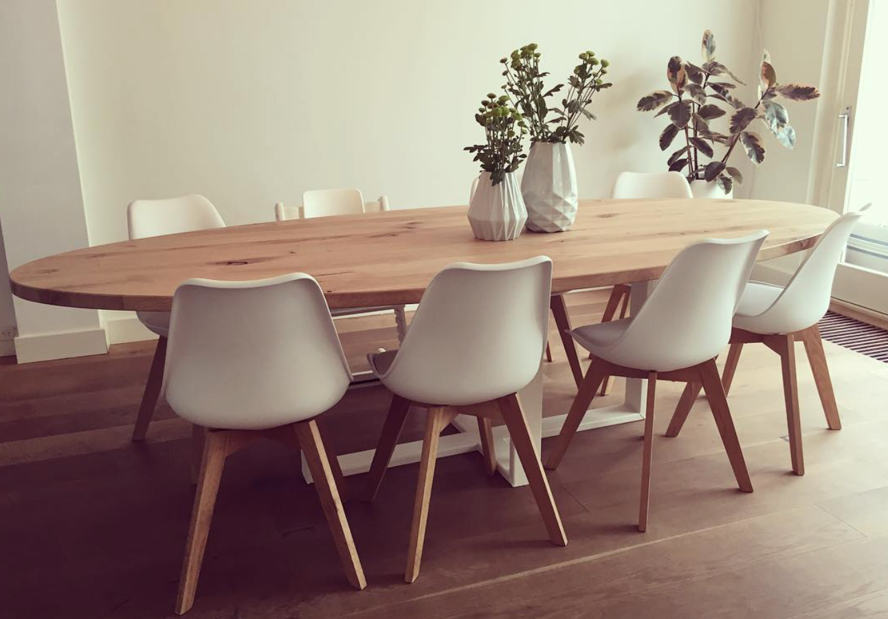 Ovalen Witte Eettafel.Alles Interieur Inspiratie Tafels Tafel In Ovaal Van Hout