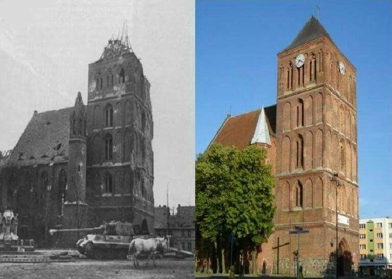 Then & Now Choszczno Poland | Poland, Battlefield, Painting
