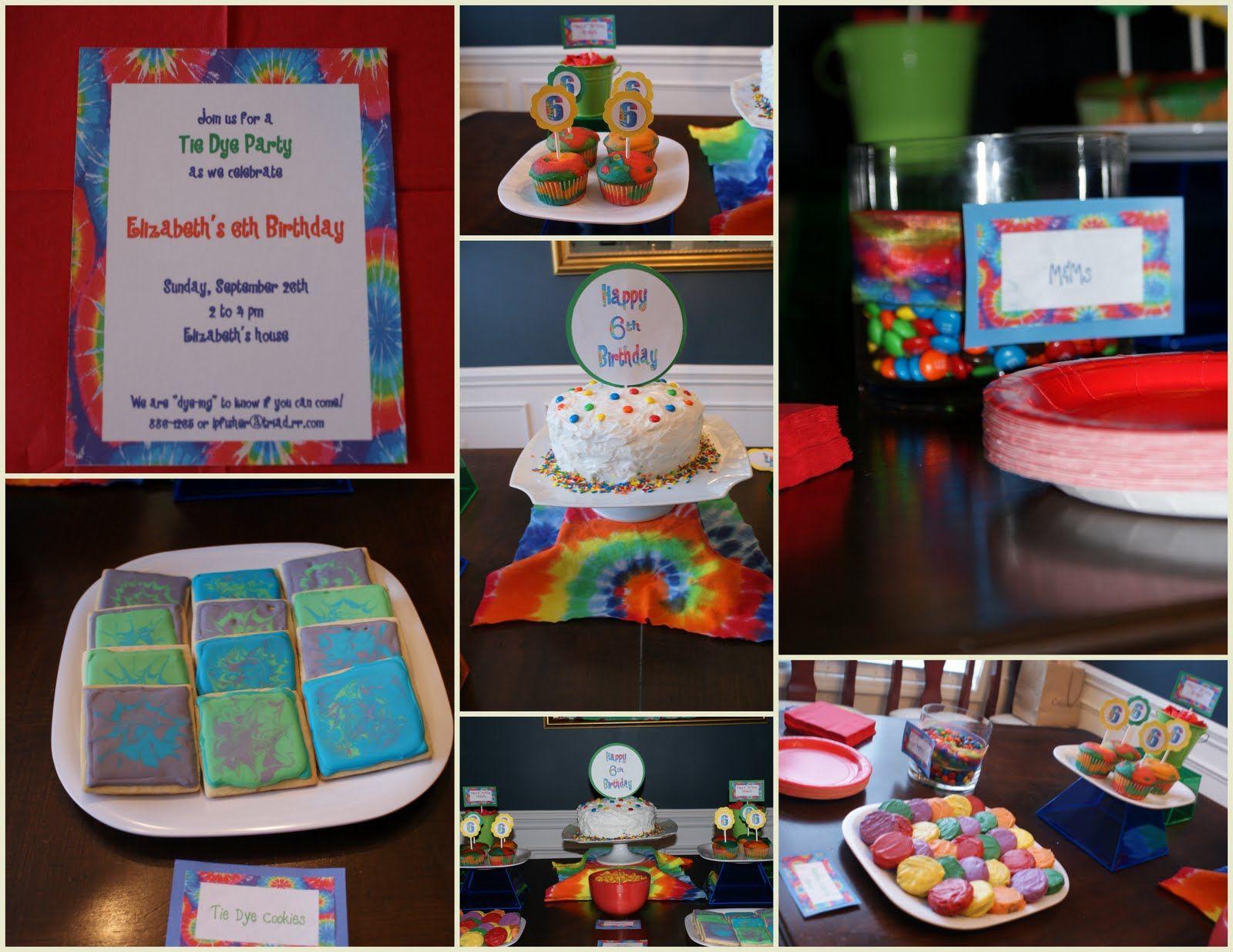 Tye Dye Birthday Party