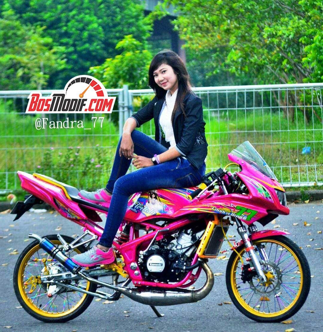 Foto Modifikasi Motor Kawasaki Ninja Dan Cewek Keren Mobil